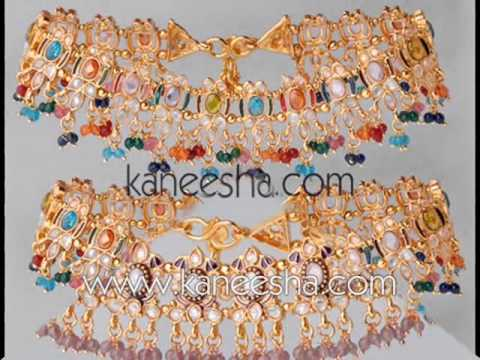 Video Indian Fashion Anklets, Armlets Jewelry