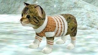 СИМУЛЯТОР Маленького КОТЕНКА #21 Виртуальный потимец Санта клаус и снеговики с оленями #ПУРУМЧАТА