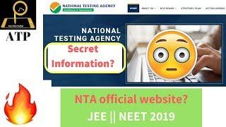 #Latest Information on NTA - JEE || NEET 2019  🔥🔥😲😲