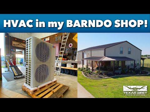 Installing a Cooper & Hunter Mini Split in Our #BARNDOMINIUM Shop & Review | Texas Best Construction
