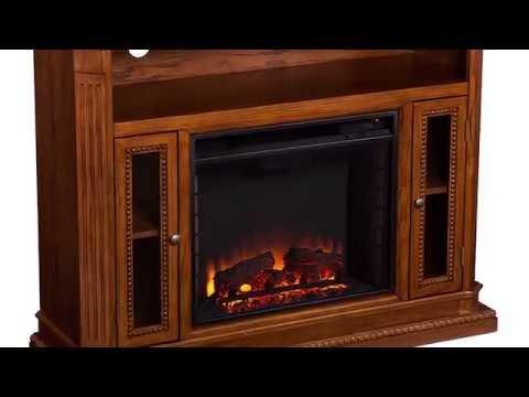 FE9352: Atkinson Media Fireplace - Rich Brown Oak