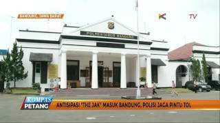 Antisipasi The Jak Masuk Bandung, Polisi Jaga Pintu Tol