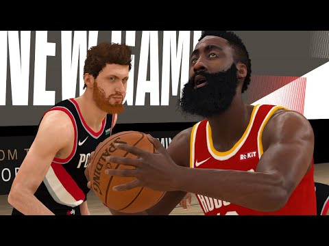 NBA Live 8/4 Rockets vs Trail Blazers Full Game Highlights | NBA Today Houston vs Portland (NBA 2K)