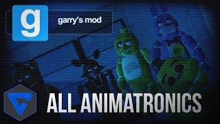 Five Nights At Freddy'S Review Todos Los Animatronicos En 3d Garrys Mod Npc