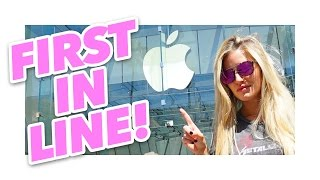 First in line for iPhone 7 at the Apple Store! | iJustine