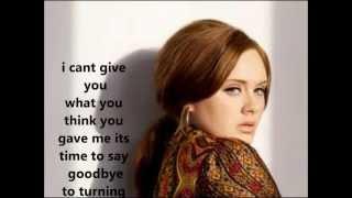 Adele Turning Tables with lyrics