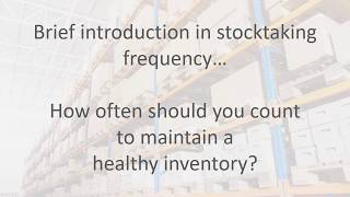 Stocktake frequency