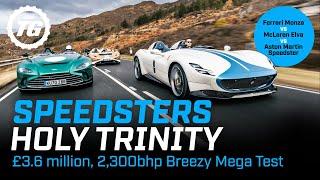 Ferrari Monza vs McLaren Elva vs Aston Martin Speedster – £3.6m, 2,300bhp mega test | Top Gear