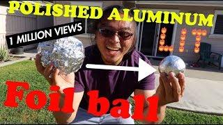Super Polished Aluminum Foil Ball | Japanese Polishing Foil Ball - Video Youtube
