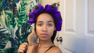 How To: ROLLER SET ON NATURAL HAIR !!