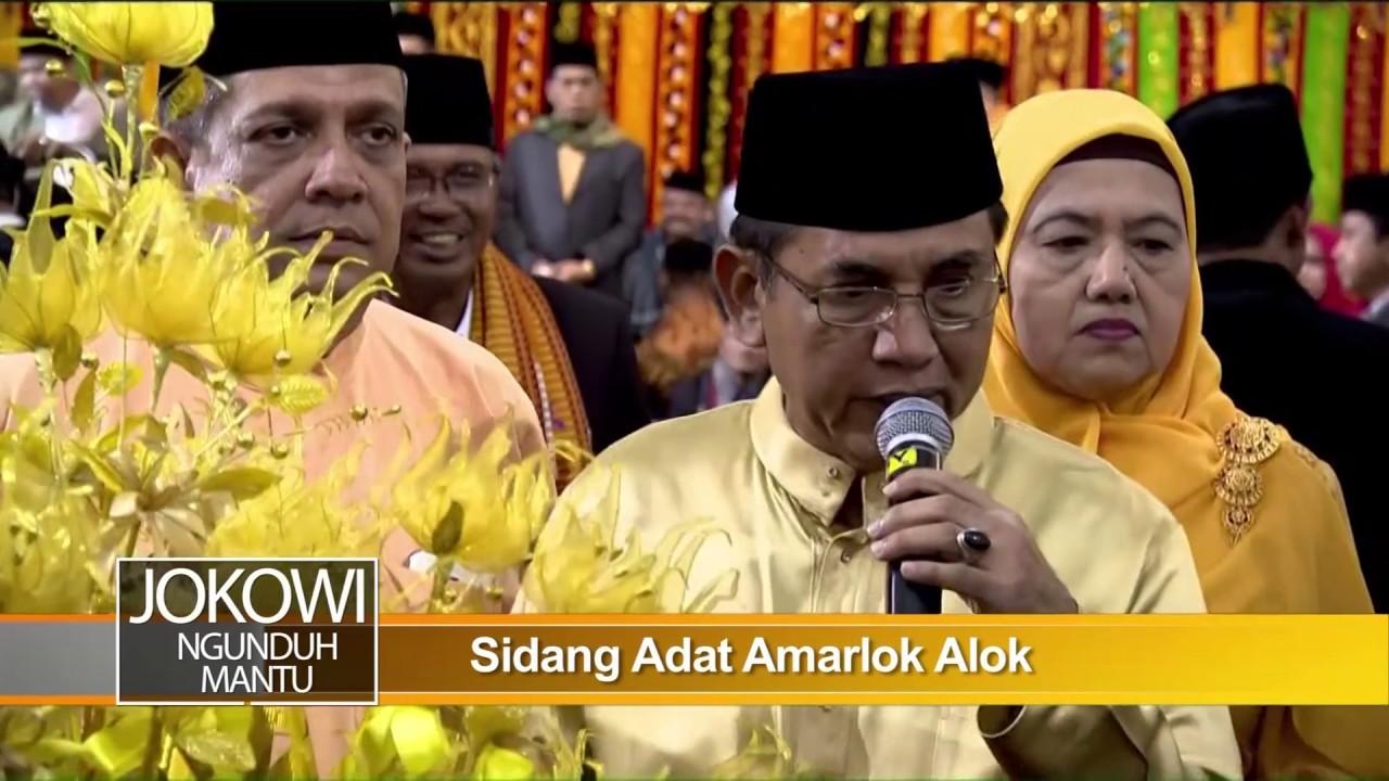 Jokowi Ngunduh Mantu, Upacara Adat Manarimo Tumpak/Marlongit dan Sidang Adat Amarlok Alok