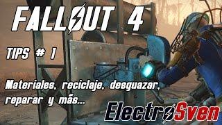 Fallout 4 - Tips 1 - Materiales, reciclaje, desguazar, reparar y más...