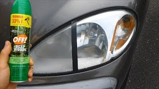 Using Bug Spray to Clean Headlights (WARNING!!!)