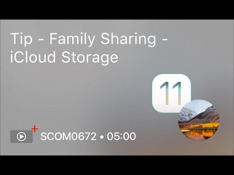 SCOM0672 – Tip – Family Sharing – iCloud Storage