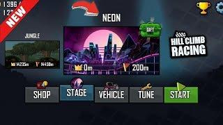 Hill Climb Racing - New Map NEON - 1.39.0 Update