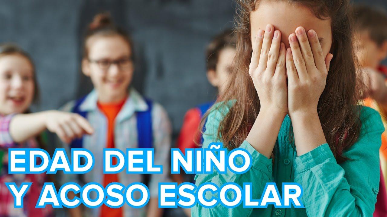 A qué edad comienza el acoso escolar o bullying