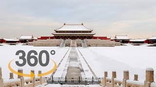 360 video: Beijing embraces post-holiday snow