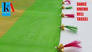 How to make Designer silk thread Saree Kuchu | Bell Tassel Saree Kuchu | DIY