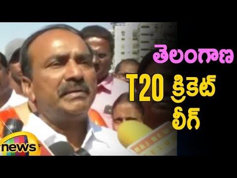 TS Finance Minister Etela Rajender Launches Telangana T20 Cricket League   Mango News Telugu