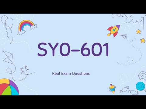 CompTIA Security+ SY0-601 Real Exam Questions - YouTube