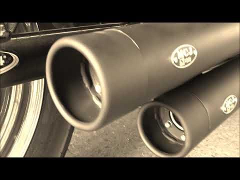 MCJ Auspuffanlage verstellbar mit ABE für Harley Davidson Sportster XL,Dyna,Softail,Touring
