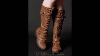 Alternative Hipster Grunge Lace Up Trendy Fashion Boots