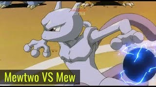 Mewtwo VS Mew   Ash Turn Into Stone Full Pokemon Movie Battle