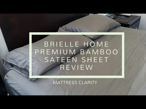 Brielle Home Premium Bamboo Sateen Sheet Review