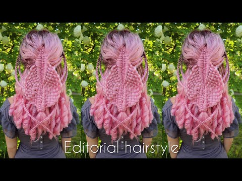 Intricate Diamond Braid with Accents | Editorial Hair | How to Braid Hairstyles