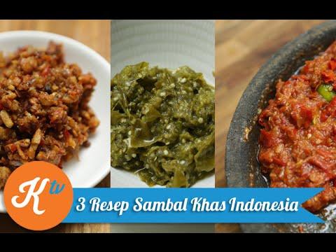 Video Resep Aneka Sambal Khas Indonesia
