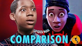 Spider-Man Into the Spider-Verse - Live Action Style! Side by Side Comparison