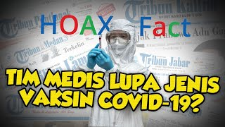 HOAX! Tim Medis Lupa Jenis Vaksin Covid-19, sehingga Sertifikat Vaksin Harus Disimpan