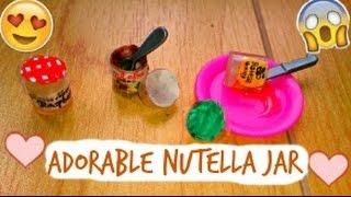 Cute DIY❤️How To Make Mini Nutella, Jam & Honey Jars