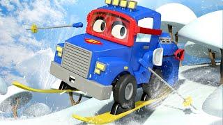 Videa o náklaďácích pro děti Sněžný náklaďák a autíčka - Supernáklaďák ve Městě Aut