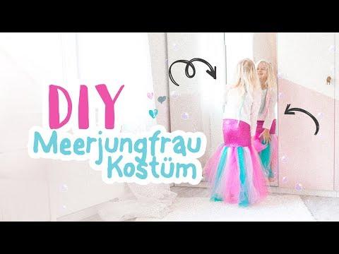 DIY Meerjungfrau Kostüm für Kinder nähen - kostenlose Plotterdatei // Mermaid Costume Kids // delari