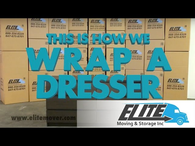 How To Wrap a Dresser When You Are Moving