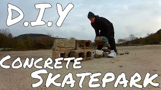 How To Build Concrete Ramps | DIY Skate park | Day 1.