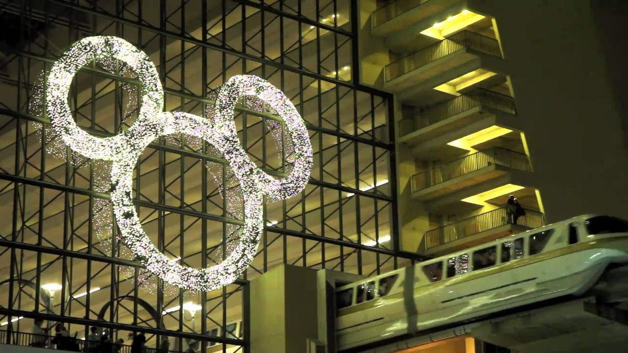 Disney's Contemporary Resort holiday decoration - mickey wreath