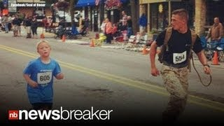 HERO: Marine Purposely Loses 5K Marathon to Run With Child; Goes Viral