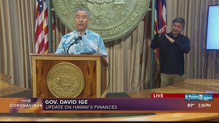 COVID-19 briefing with Gov. Ige, Lt. Gov. Green and DOH Director Dr. Anderson.