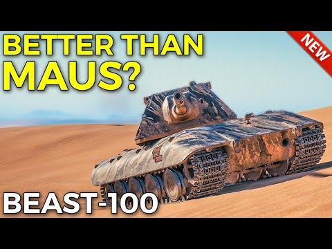 New BEAST-100 Better Than Maus Now? | World of Tanks E-100 Gameplay