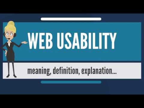 What is WEB USABILITY? What does WEB USABILITY mean? WEB USABILITY meaning & explanation