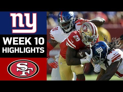 Giants vs. 49ers | NFL Week 10 Game Highlights