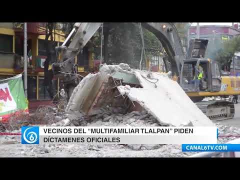 Vecinos del multifamiliar en Tlalpan solicitan dictámenes oficiales