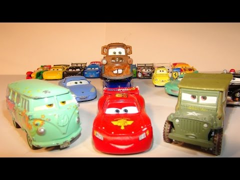 PIXAR CARS FILLMORE AND SARGE COLLECTION FROM THE DISNEY CARS CHARACTER ENCYCLOPEDIA PART 7