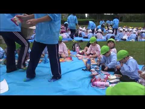 笠間市 ともべ幼稚園「秋の遠足 昼食」