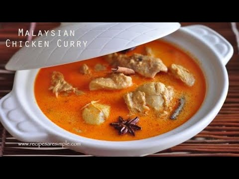 Malaysian Chicken Curry ( Nyonya Chicken Curry With Coconut Milk)