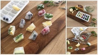 Flavored Ice Cubes | Infused With Herbs And Fruits