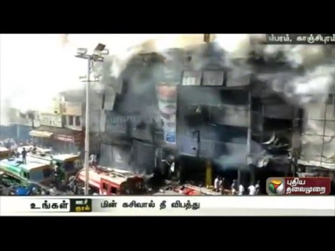 25-shops-destroyed-in-fire-at-Shanmugam-Salai-Tambaram