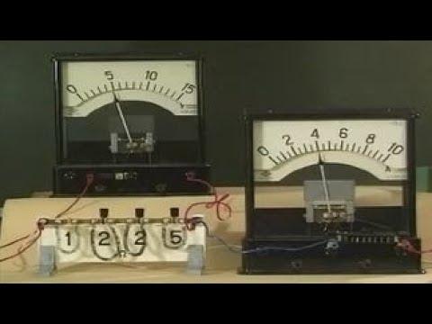 Опыты по физике. Зависимость силы тока от сопротивления цепи